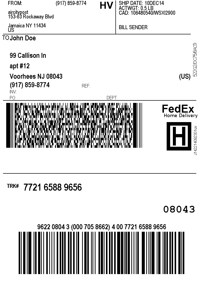 how to add fedex label